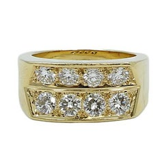 Cartier Diamond Yellow Gold Ring