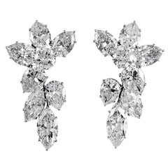 Harry Winston Diamond Cluster Ear Clips