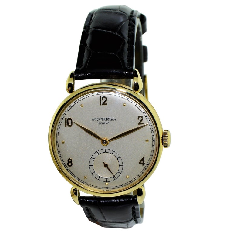 Patek Philippe Yellow Gold Art Deco Oversized Manual Watch