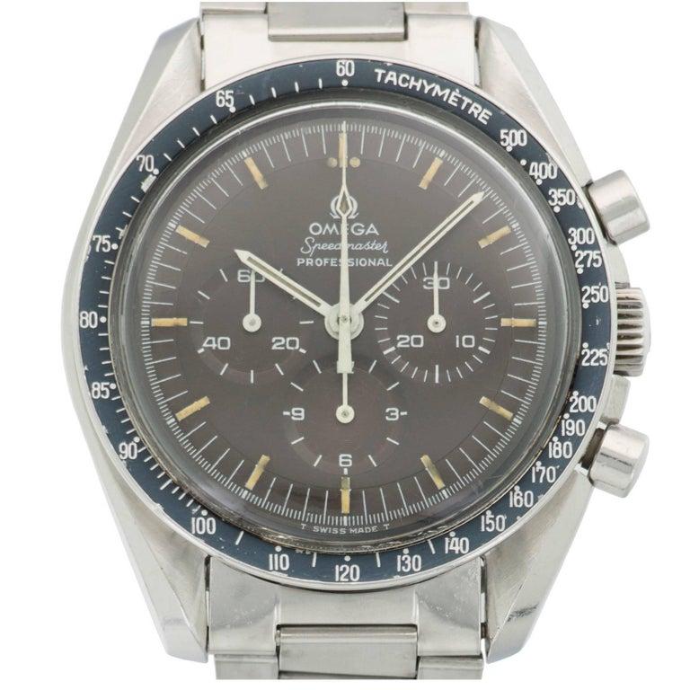 Omega Stainless Steel Tropical Speedmaster Wristwatch Ref 145.022