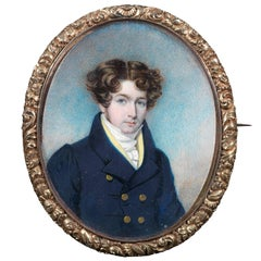 Portrait Miniature of a Gentleman Brooch
