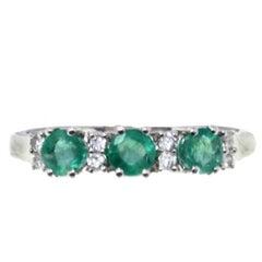 Luise Gold Diamond Emerald Ring