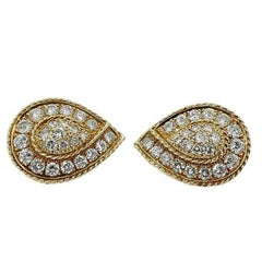 5.00 Carat Diamond Yellow Gold Earrings