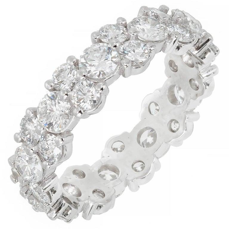 Peter Suchy 3.33 Carat Diamond Three-Row Platinum Eternity Band Ring