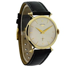 Hamilton Yellow Gold Sir Echo Manual Wristwatch, circa 1950s