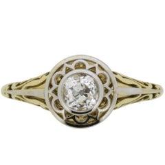 Vintage Diamond Solitaire Engagement Ring, circa 1940s