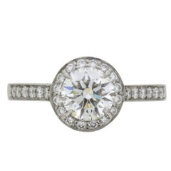 Tiffany & Co. 'Tiffany Embrace' 1.10 Carat Diamond Halo Engagement Ring