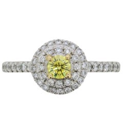 Tiffany & Co. 'Tiffany Soleste' Fancy Color Yellow Diamond Engagement Ring