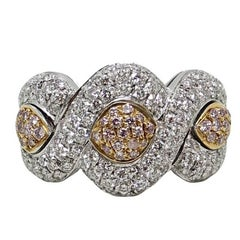 1.63 Carat Diamond White and Rose Gold Ring