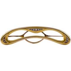 Art Nouveau Gold Barrette