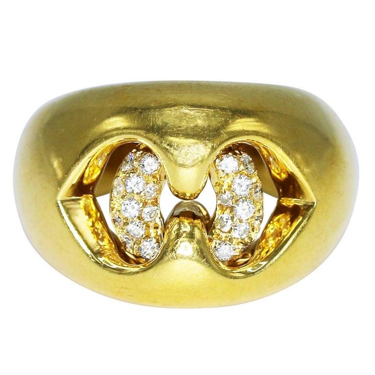 Bulgari Diamond and Gold Cocktail Ring