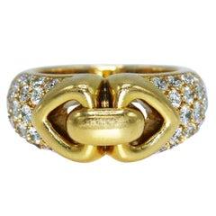 Bulgari Diamond and Gold Open Heart Ring