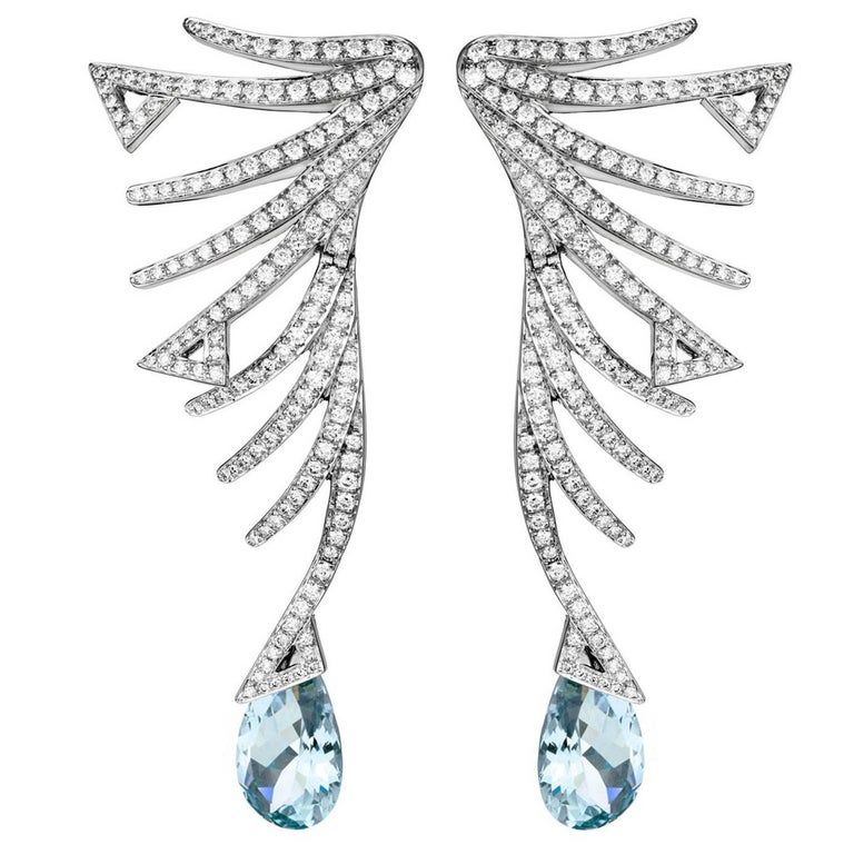 Akillis Cruella Aquamarine Diamond  Earrings