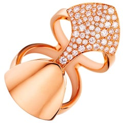 Akillis Python Armor Ring 18 Karat Rose Gold White Diamonds