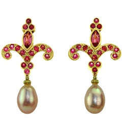 Classic Crevoshay Fleur-de-Lis Earrings