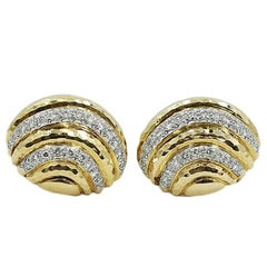Andrew Clunn Diamond Dome Earrings
