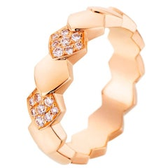 Akillis Python Ring 18 Karat Rose Gold White Diamonds