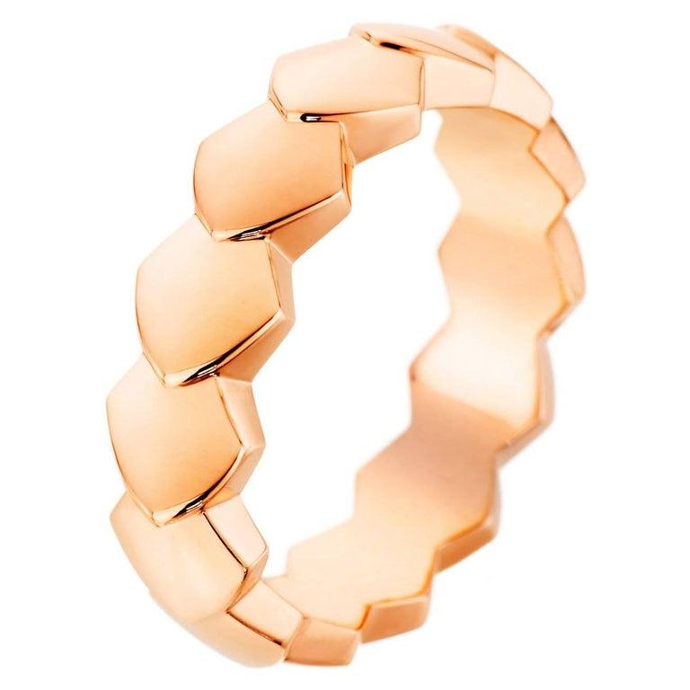 Akillis Python Ring 18 Karat Rose Gold For Sale