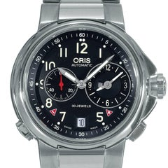 Oris Stainless Steel Artelier Worldtimer Automatic Wristwatch