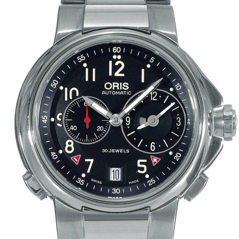 Oris Stainless Steel Artelier Worldtimer Automatic Wristwatch