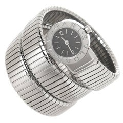 Bulgari Ladies Stainless Steel Serpenti Snake Quartz Bracelet Wristwatch
