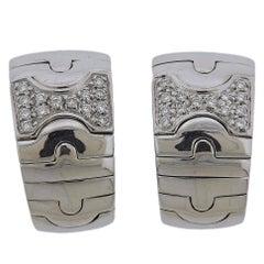 Bulgari Parentesi Gold Diamond Half Hoop Earrings