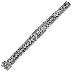 1950s Diamond and Platinum Bracelet