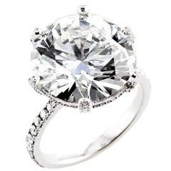 GIA Certified 10 Carat Diamond Ring