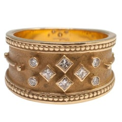 Etruscan Revival Diamond Gold Ring