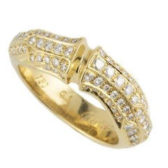 Cartier Diamond Set Bamboo Ring