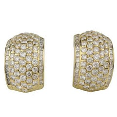 Kutchinsky Diamond Gold Hoop Earrings