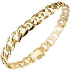 Gentlemans Curb-Link Gold Bracelet