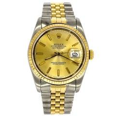 Rolex Yellow Gold Datejust Wristwatch Ref 16233, circa 1988