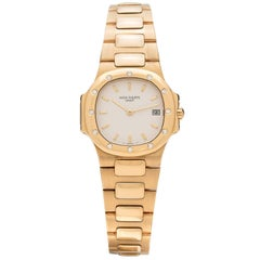 Patek Philippe Ladies Yellow Gold Diamond Nautilus Wristwatch