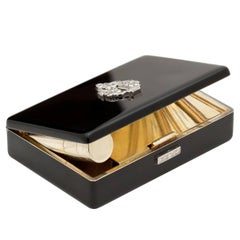 Art Deco Cartier London Diamond Lacquer Compact