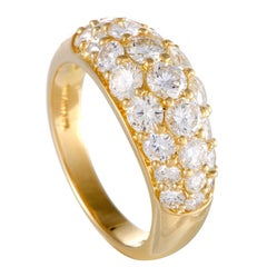 Tiffany & Co. Diamond Pave Yellow Gold Band Ring