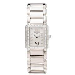 Patek Philippe Ladies Twenty-Four White Gold Diamond Quartz Wristwatch