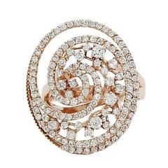 1.54 Carat Diamond Rose Gold Ring