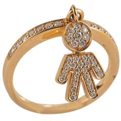 Diamond Yellow Gold Baby Boy Ring