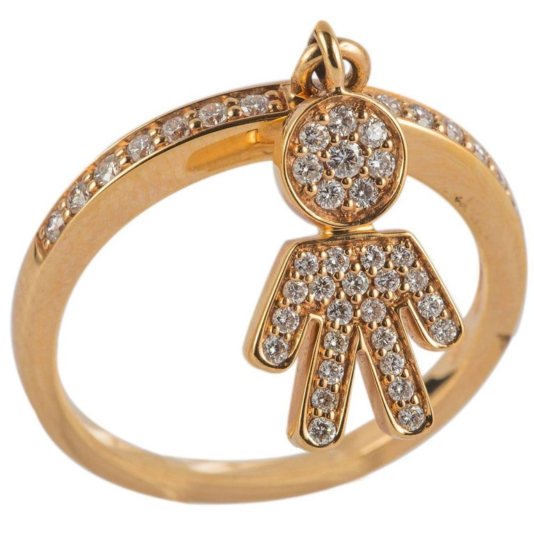 yellow gold baby boy ring for sale at 1stdibs