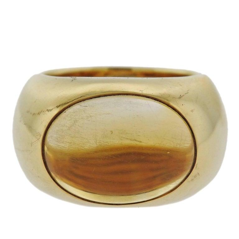 Large Pomellato Gold Citrine Ring