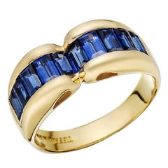 Tiffany & Co. Yellow Gold Baguette-Cut Sapphire Band