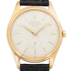 Patek Philippe for Tiffany & Co. Yellow Gold Calatrava Wristwatch Ref 2526
