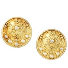 Denise Roberge Diamond Gold Earrings