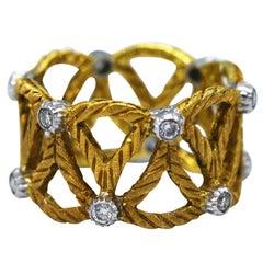 Buccellati Diamond and Gold Band Ring