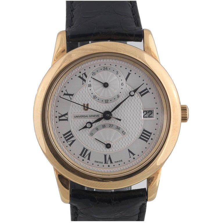 Universal Geneve Yellow Gold Automatic Wristwatch Ref 170.370 For Sale