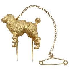 1940s Yellow Gold 'Poodle' Brooch