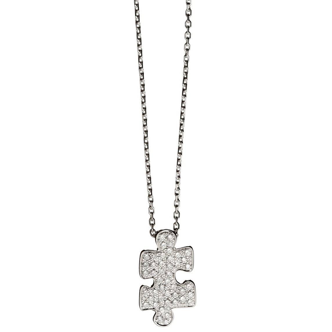 Akillis Puzzle White Gold With Diamonds Medium Pendant 32wYtJX