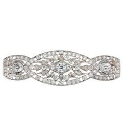 Diamond Art Deco Brooch in Platinum and 14 Karat White Gold