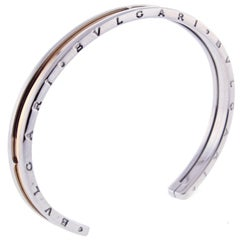 Bvlgari B.Zero1 Rose Gold and Stainless Steel Cuff Bracelet